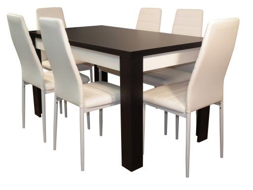 Modny Stół Rozkładany Z Krzesłami Do Salonu