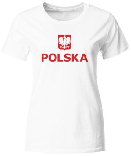 KOSZULKA KIBICA REPREZENTACJI POLSKI DAMSKA R. S
