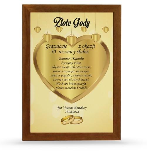 Dyplom Rocznica 50 Lat ślub Złote Gody Prezent 7544210546 Allegropl