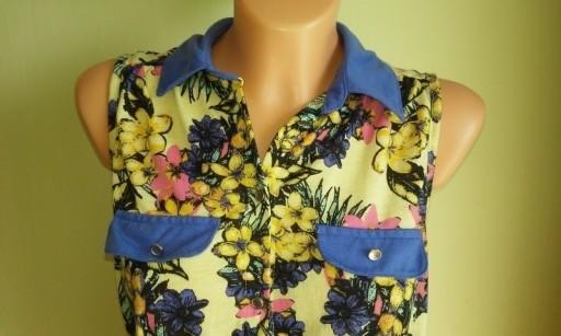 Bluzka krótka crop top w kwiaty Atmosphere ( 38 )