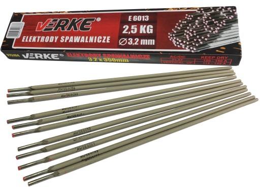 ELEKTRODY SPAWALNICZE 3,25mm 2,5kg RUTYLOWE VERKE