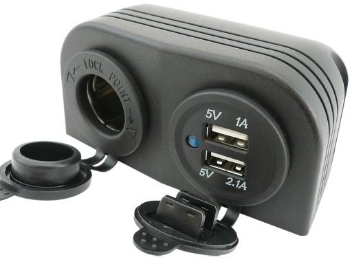 CHARGER USB 5V 3,1A NEST HERMETICALLY 12V 24V