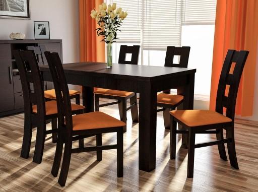 Stół rozkładany 80x120x165 z 6 krzesłami Polecam