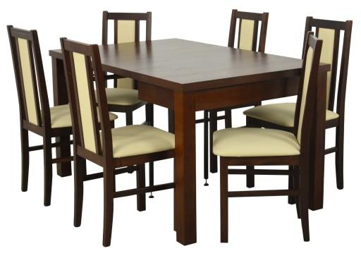 Stół 90x90 Rozkładany Do 240 Cm 6 Krzeseł Drewno 7570531064