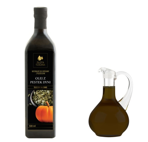 Olej z pestek dyni 500ml zimnotłoczony 100% świeży