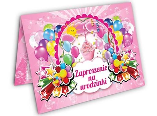 Zaproszenia Urodzinowe Na Urodziny Dla Dzieci 6905 7206086017