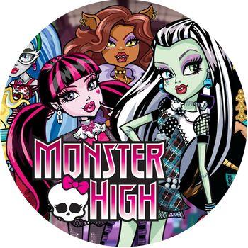 Oplatek Na Tort 20 Cm Monster High Urodziny Party 6757797048 Allegro Pl