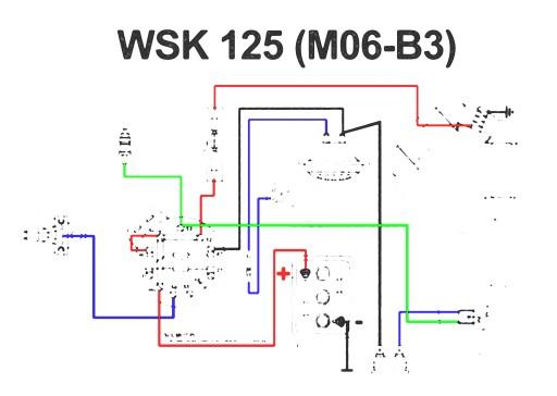 Schemat Instalacji Elektrycznej Wsk 125 M06 B3 6794170859 Allegropl