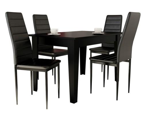 Rozkładany Stół 80x120 165 I 4 Krzesła Do Kuchni