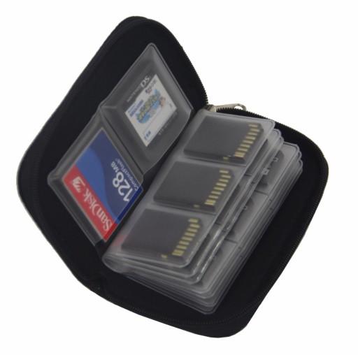 Etui Organizer Praktyczne Kart Pamięci SD CF Micro
