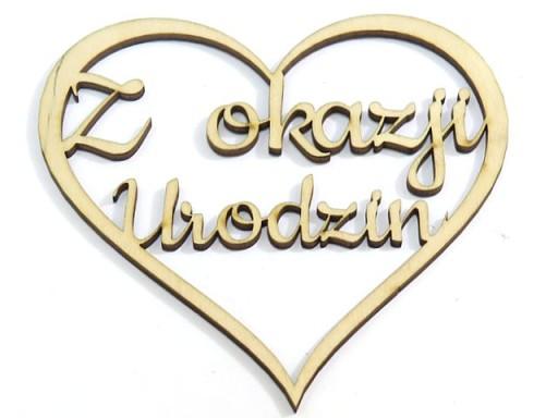 DECOUPAGE SERCE ZAWIESZKA 'Z okazji Urodzin' KD11