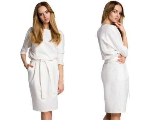 Dzianinowa Sukienka Odcinana W Pasie 38 M 7236291885 Allegro Pl