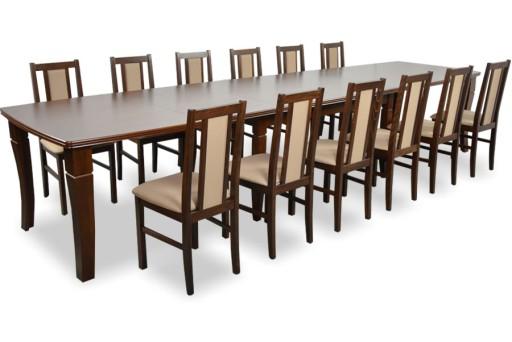 Duży Stół Rozkładany 100160400 12 Krzeseł Nowe