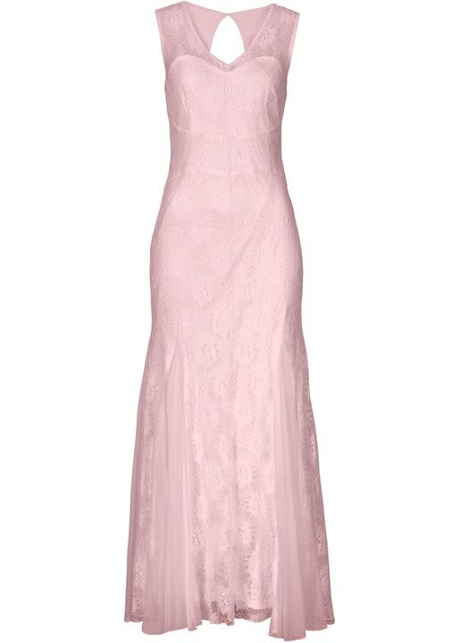 R110 SUKIENKA RÓŻOWA KORONKA MAXI BODYFLIRT R.44 9503233674 Odzież Damska Sukienki wieczorowe DE XMRODE-6