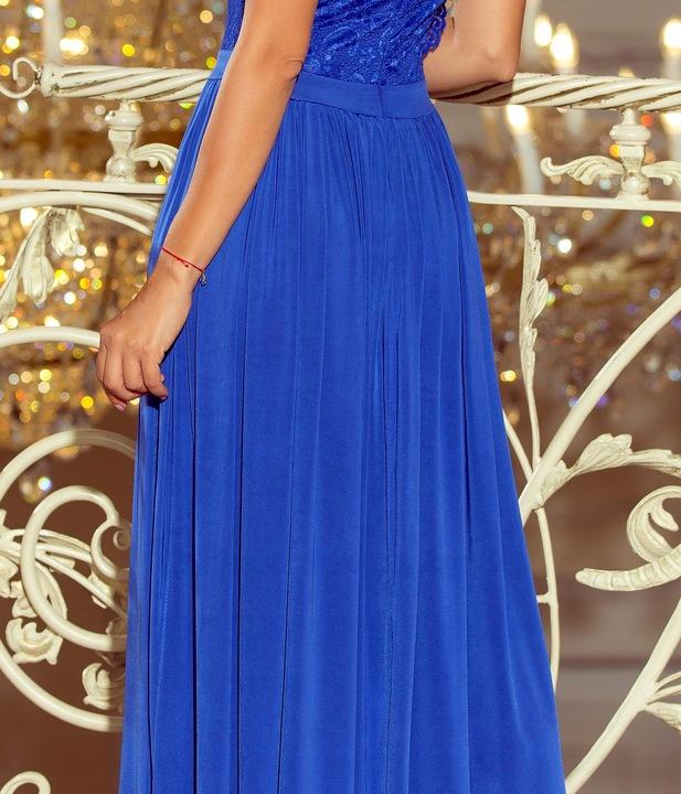 Długa Sukienka KORONKOWA ODKRYTE PLECY 211-3 L 40 9592535486 Odzież Damska Sukienki wieczorowe FU IMRVFU-3
