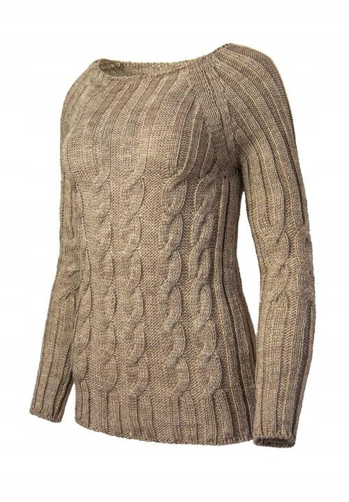 MIĘKKI CIEPŁY KOBIECY SWETER W WARKOCZE SHILA 7582738029 Odzież Damska Swetry YU ZFPVYU-4